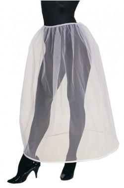 Sottogonna bianca di tulle con cerchio crinolina