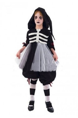 Costume carnevale Bambina Scheletro