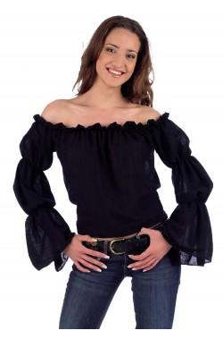 Camicia donna pirata nera...