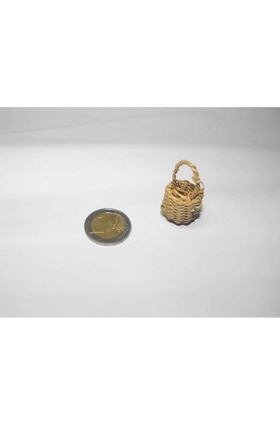Accessori presepe contadino:Cestino in vimini piccolo
