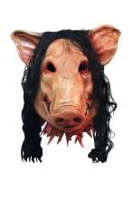 Maschera film maiale assassino in lattice