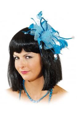 Mini Cappello Azzurro Con Piume anni 20