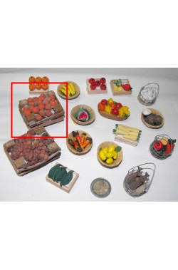 Accessori presepe fruttivendolo:cassetta di frutta grande realizzata a mano