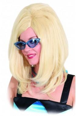 Parrucca donna Bionda lunga Anni 60