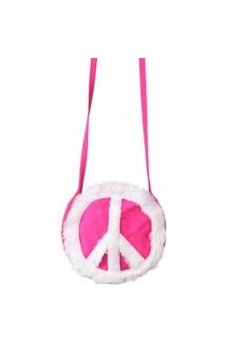 Borsetta Hippie Anni 70 Rosa con simbolo della pace