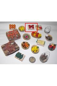 Accessori presepe fruttivendolo:cassetta cachi piccola realizzata a mano