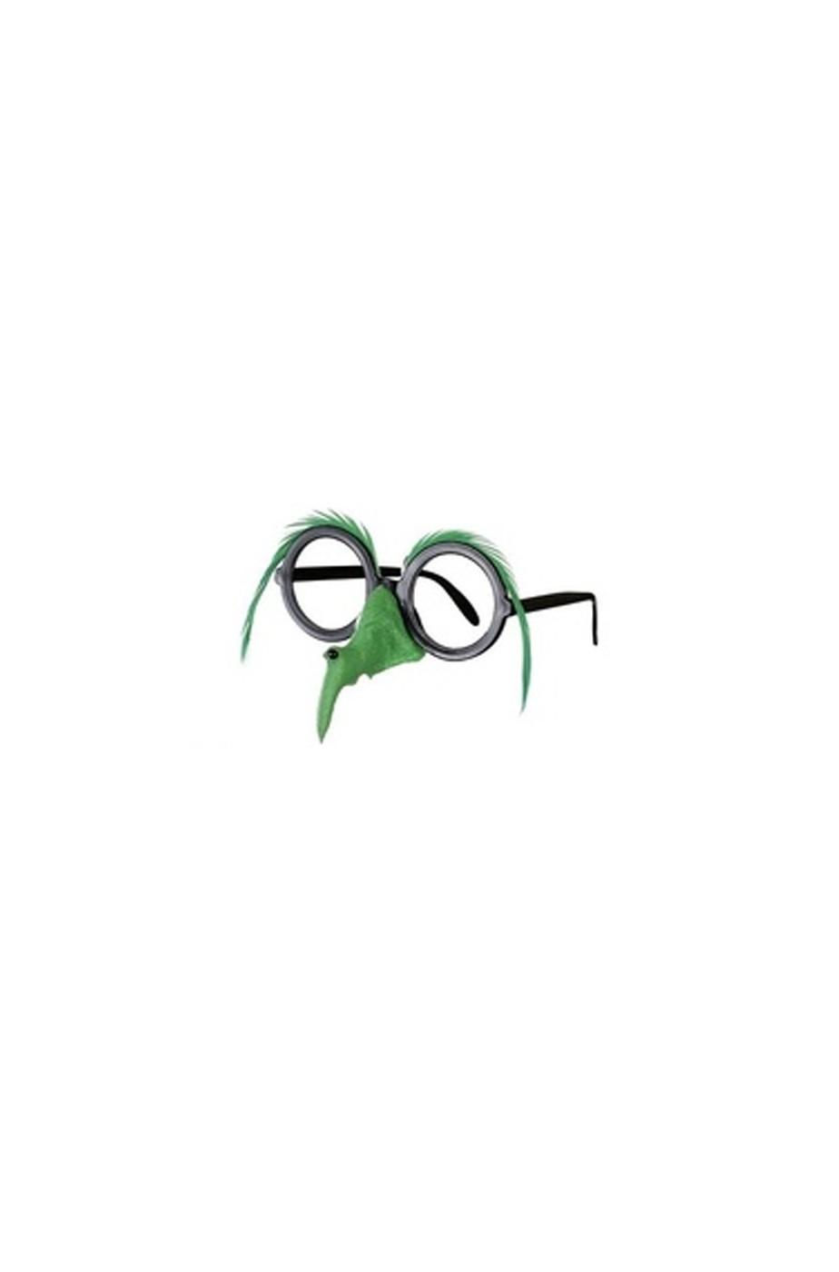 Occhiali e naso befana/strega verde