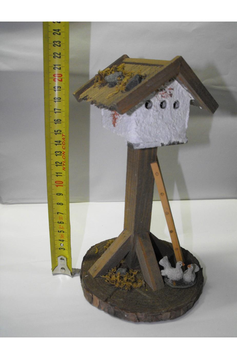 Ambientazione presepe:casa degli uccelli grande in legno