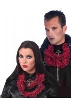 Jabot vampiro lusso halloween con croce