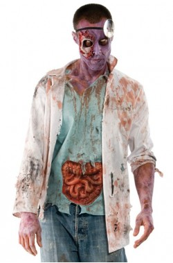 Vestito Halloween uomo Zombie dottore Walking Dead