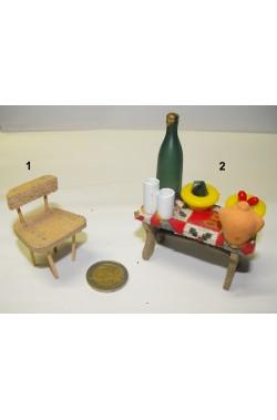 Ambientazione presepe: seggiola in legno (foto n.1)