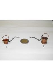 Ambientazione presepe: paiolo in rame grande con catenella (foto n.2)