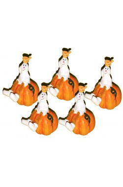 Portacandela in ceramica Halloween Trick or Treat