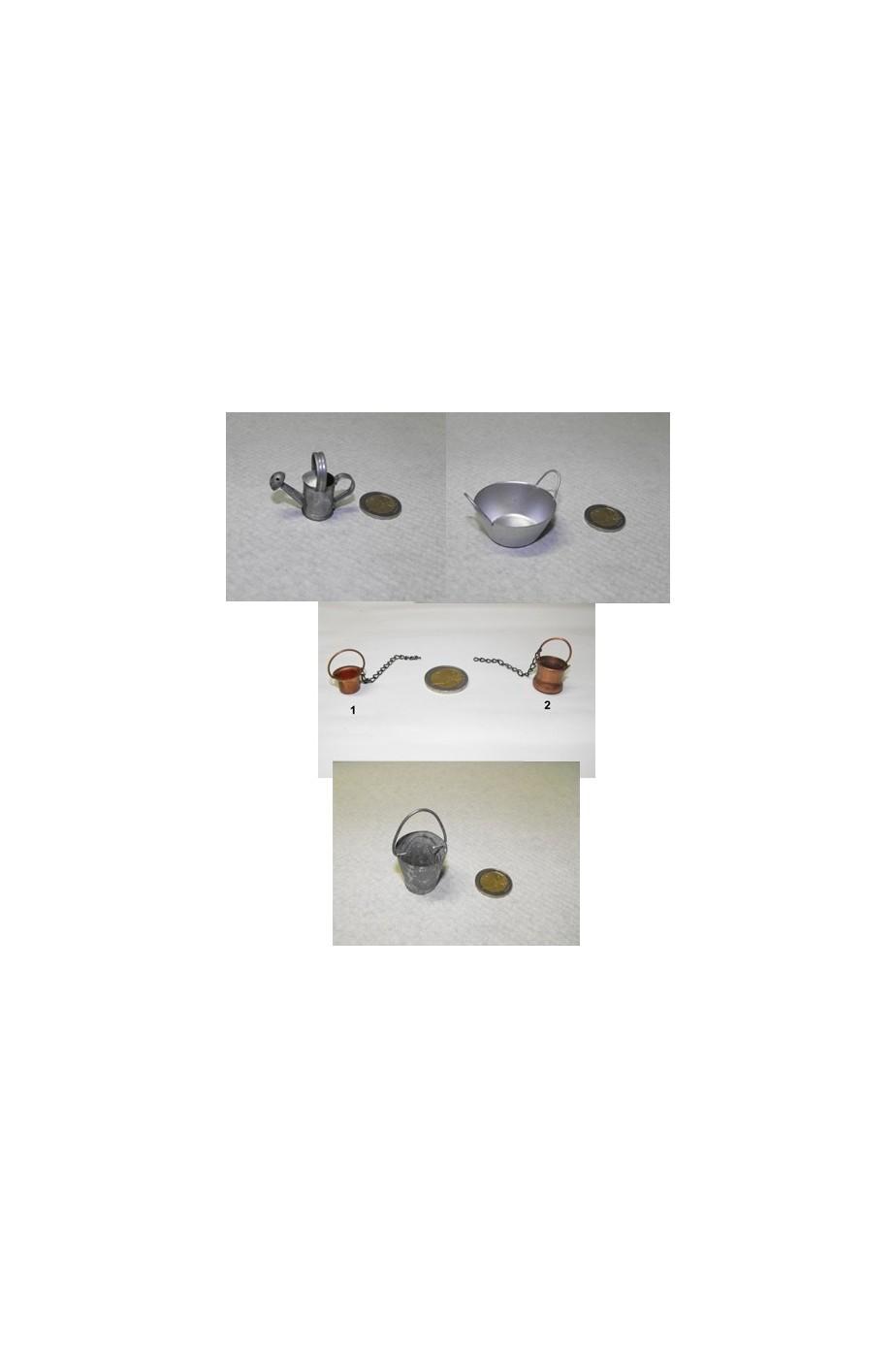 Allestimento Presepe:set accessori pastore in metallo
