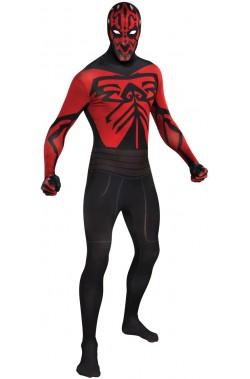 Costume Darth Maul  2nd skin. Tuta aderente.Si beve attraverso la maschera