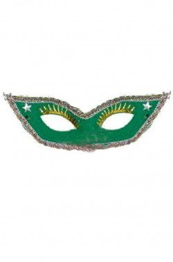 maschera stile veneziano blu con ciglia applicate e punte