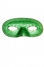 maschera di carnevale stile veneziano domino verde glitter