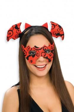 Maschera e cerchietto pipistrello