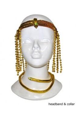 Set o kit egiziano copricapo e serpente