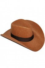 Cappello cowboy marrone in feltro adulto