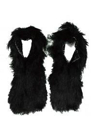 Copriscarpa peloso piedi da lupo neri