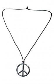 Collana medaglione della pace anni 70 in metallo con cordino