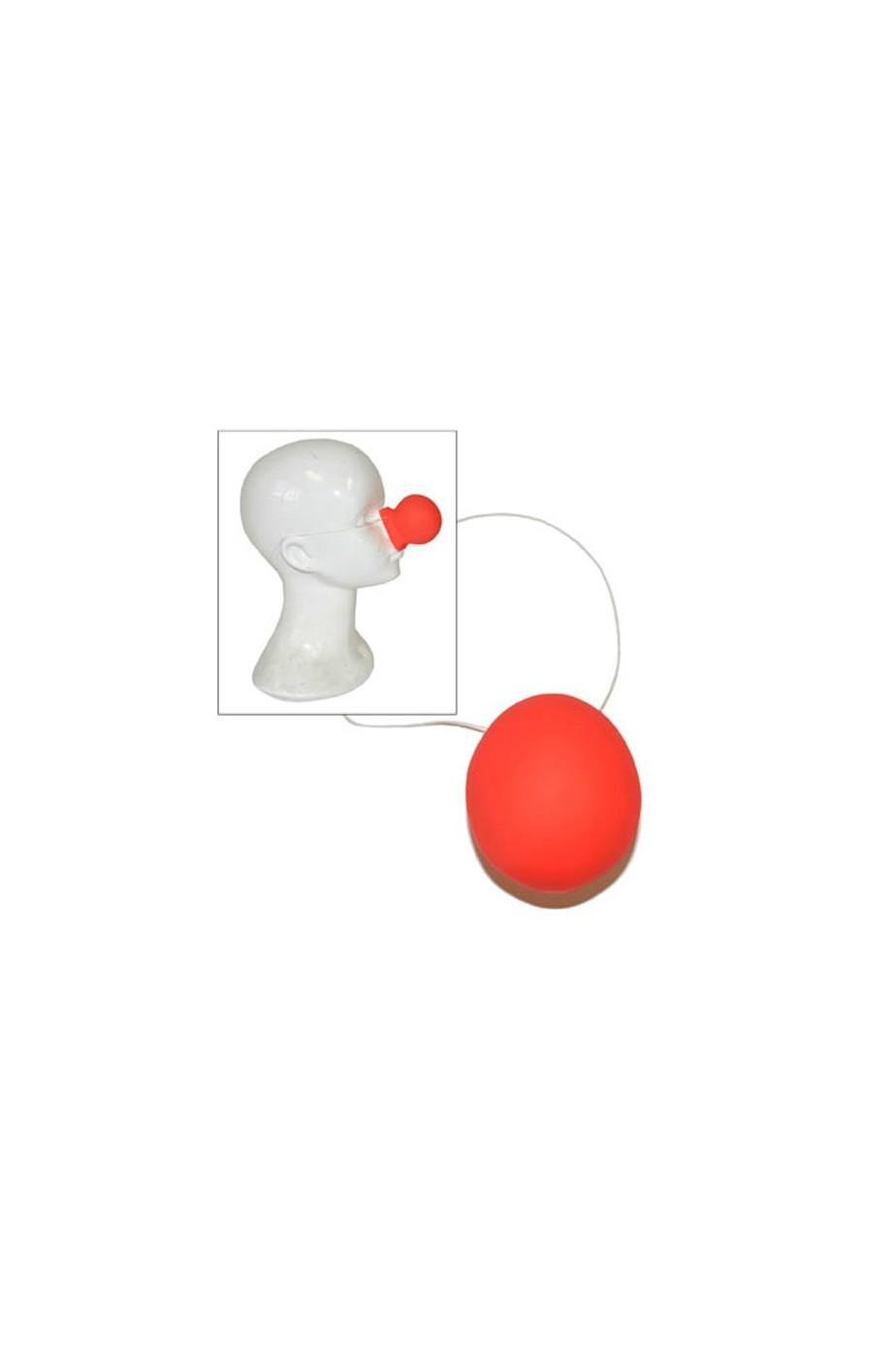 Naso clown in plastica con elastico