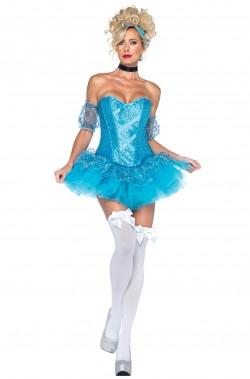 Abito Cenerella Principessa Azzurra Sexy