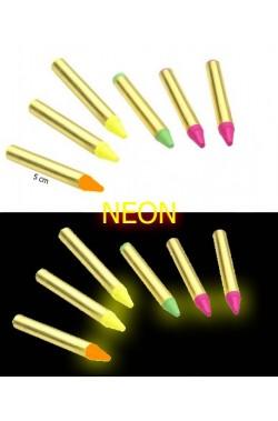 Scatola 6 Matite. neon fluo