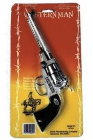 Pistola giocattolo cowboy Revolver in metallo ADULTO cm20