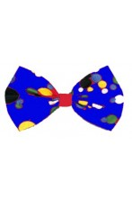 Cravattino Farfallino Papillon blu a pois