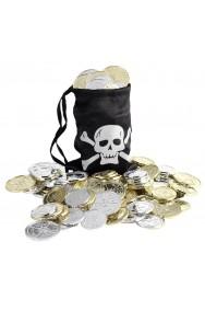 Borsa borsetta pirata con monete