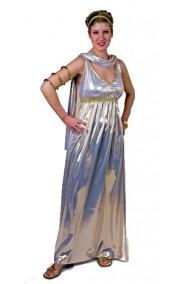 Costume donna da antica romana lungo Elena o da angelo o da fortuna