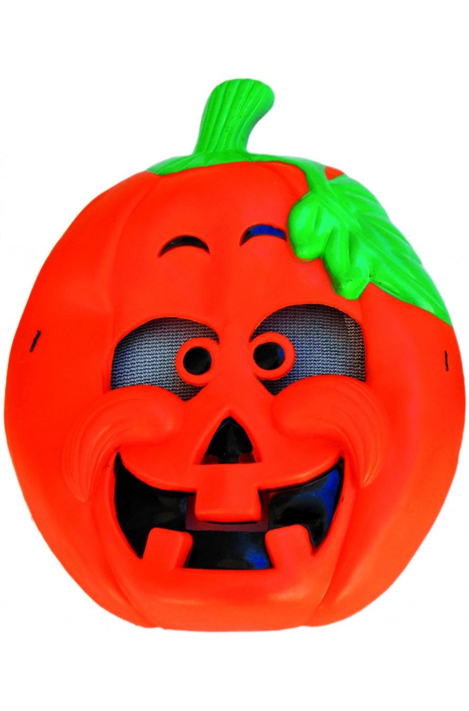 Maschera Halloween bambino in PVC Zucca
