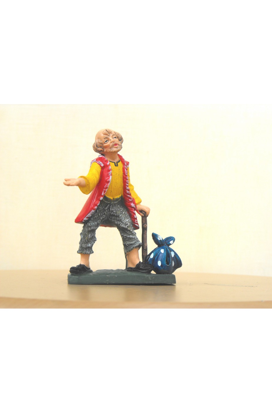 Figurina Presepe in plastica (cm 7 o 10 s.q.) Mendicante