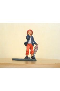 Figurina Presepe in plastica (cm 7 o 10 s.q.) Pescivendolo
