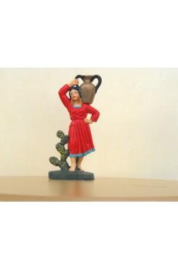 Figurina Presepe in plastica (cm 7 o 10 s.q.) Donna con giara