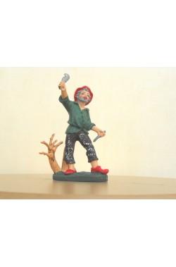 Figurina Presepe in plastica (cm 7 o 10 s.q.) Legnaiolo falegname taglialegna