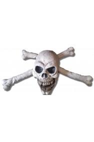 Decorazione allestimento grande Teschio ed Ossa per festa pirati o Halloween