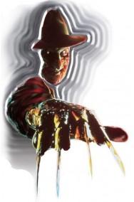Allestimento Halloween da vetro muro specchio decalcomania Freddy Kruegher