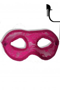 Maschera carnevale stile veneziano rossa brillantinata