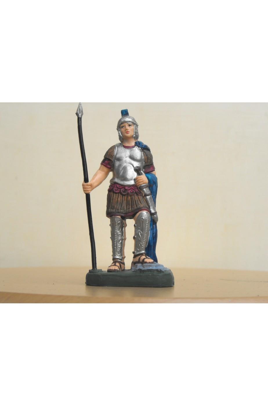 Figurina Presepe in plastica (cm 10) Soldato legionario romano con lancia