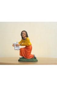 Figurina Presepe in plastica (cm 7) Lavandaia inginocchiata