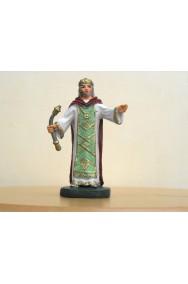 Figurina Presepe in plastica (cm 7 o 10 s.q.) Re Magio con scettro