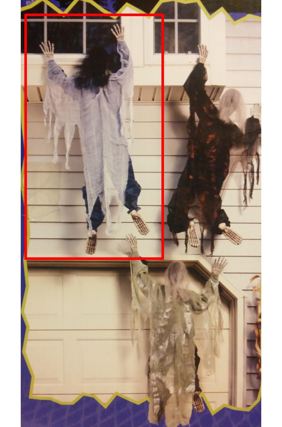 Decorazione da giardino Halloween zombie che scala la parete. Nero
