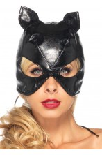 Maschera Catwoman Bondage in stoffa rivestita di vinile