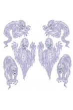 Allestimento Halloween da vetro o specchio Mostri fantasma ectoplasma