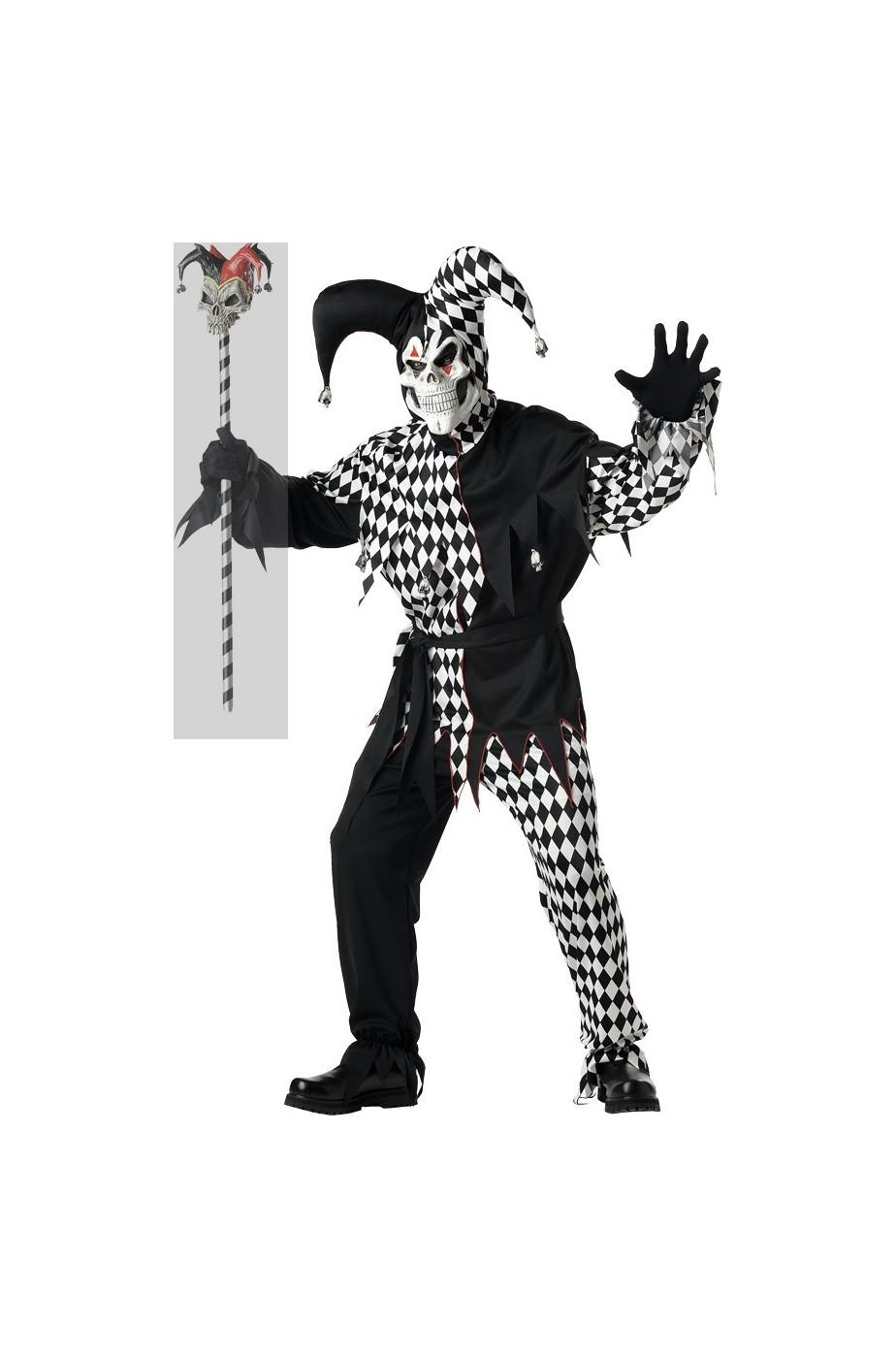 a basso costo sconto nuova alta qualità costumi di carnevale da il clown in versione assassino o carta da gioco