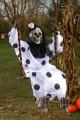 Decorazione Halloween da giardino scheletro sull'altalena Jack
