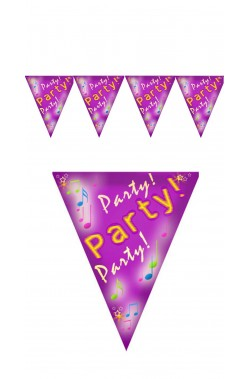 Festone decorativo party in nylon 4 bandierine 80cm*30cm